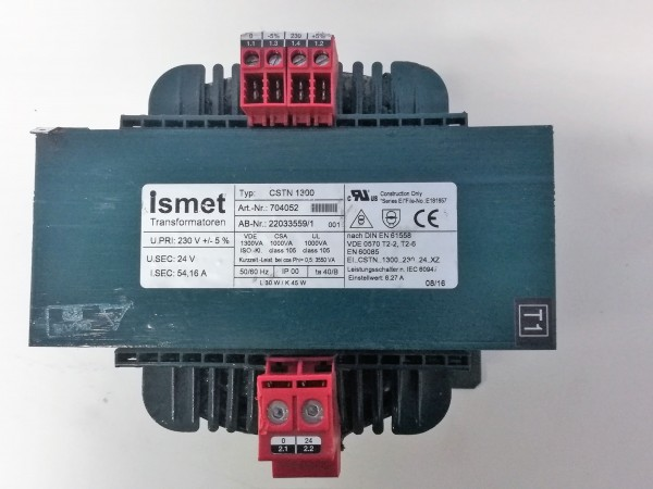 Ismet CSTN1300 Transformer